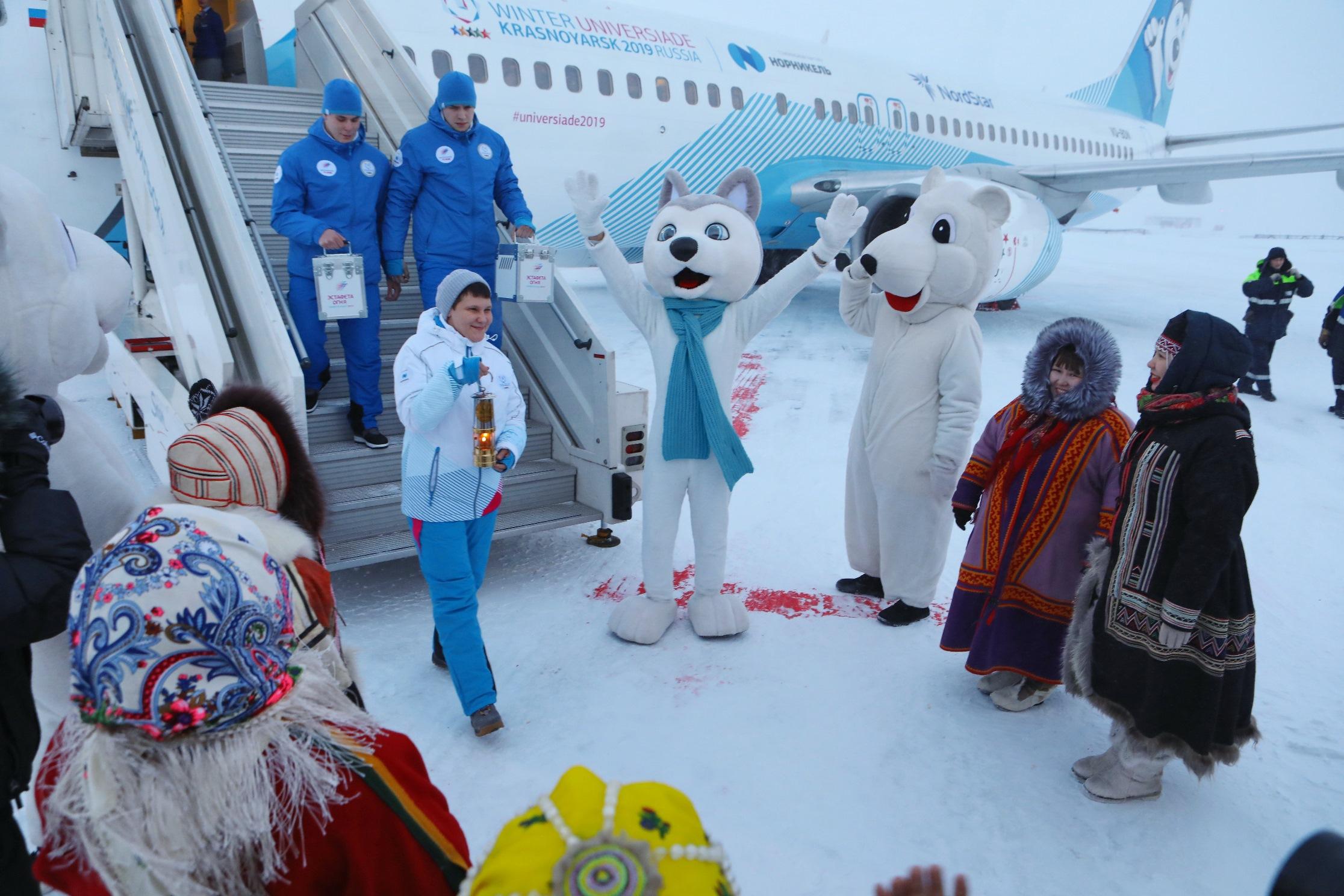 Огонь Зимней универсиады-2019 доставили в Норильск
